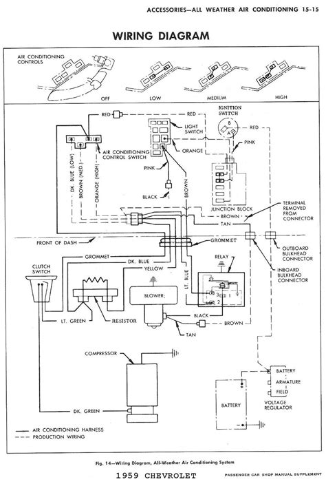 air conditioning wiring diagram for 1959 chevrolet
