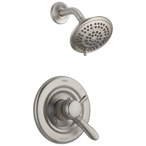 monitor bathtub faucet delta t17238 ss lahara single handle tub shower faucet