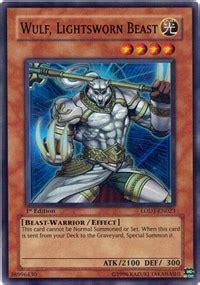 Kartu Yugioh Raiden Of The Lightsworn Common wulf lightsworn beast light of yugioh