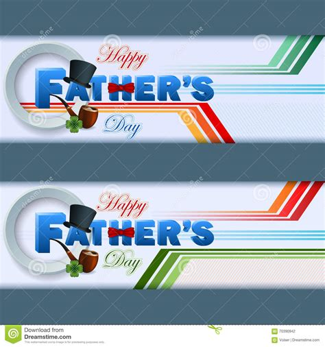 s day website set of web banner with happy s day stock vector