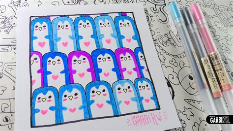 cute pattern drawings cute penguins how to draw patterns for your doodles by