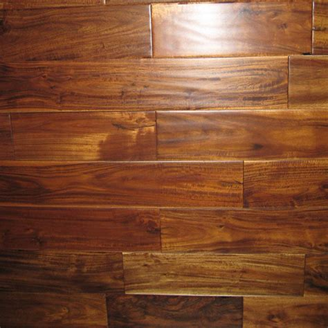 "Prefinished Handscraped Acacia Bronze 11/16"" x3.5"" Belmont"