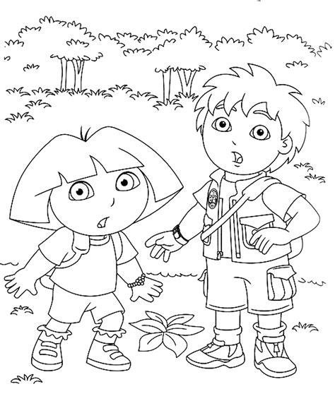 free coloring pages dora and diego print download dora coloring pages to learn new things
