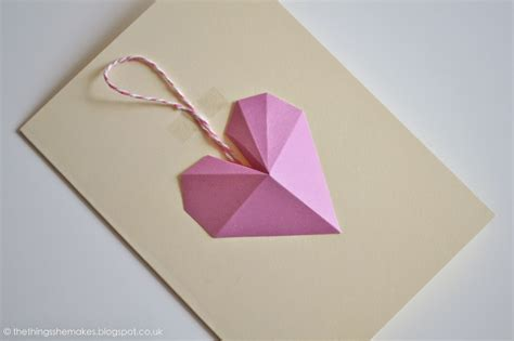 How To Make 3d Things With Paper - how to make 3d geometric paper hearts the things she makes