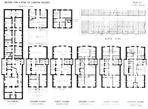 large townhouse floor plans plan for a row of london townhouses by mr kerr