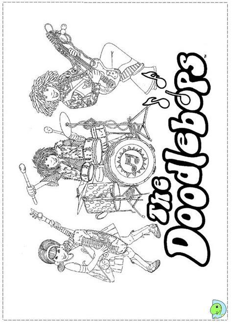 doodlebops coloring page dinokids org