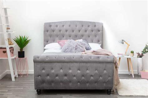 side lift ottoman storage sleigh bed hton grey velvet ottoman storage sleigh bed frame