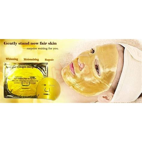 Mask Gold 24k 24k gold active mask 10pieces to brightening spa