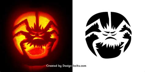 scary halloween pumpkin carving patterns stencils