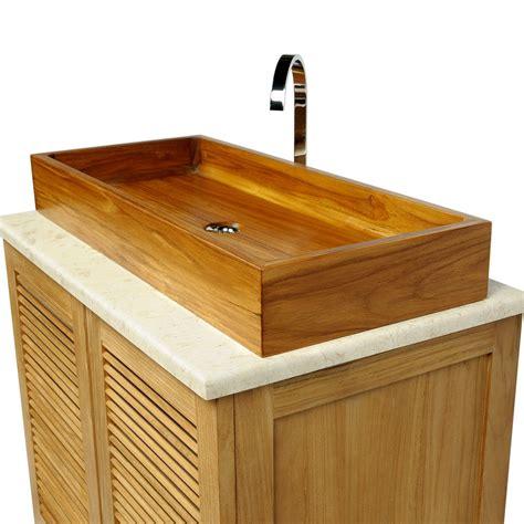 holz waschbecken teak holz waschbecken edles doppelwaschbecken bad spa