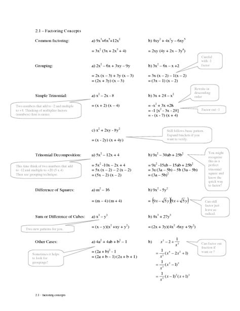 Factoring Worksheet Answers by Factoring Polynomials By Grouping Worksheet Worksheets