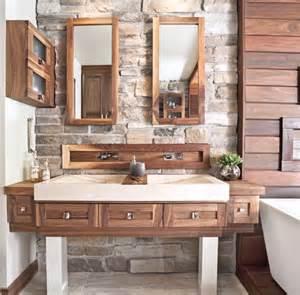 salle de bain rustique bois chaios