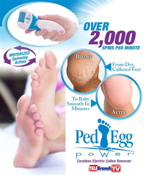 ped egg power dry foot smoother from collections etc ped egg power as seen on tv