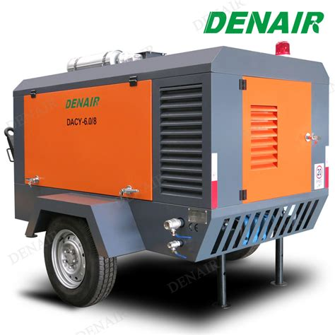 china industrial high pressure diesel driven movable mobile portable rotary air compressor