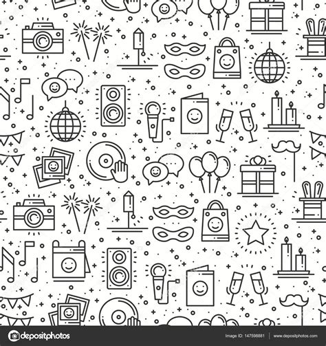 design pattern event dispatcher party celebration seamless pattern birthday holidays