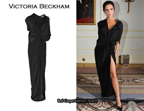 In Beckhams Closet Marc Carpet Fashion Awards by In Beckham S Closet Beckham Knotted