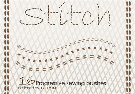 use pattern brush photoshop stitch free photoshop brushes at brusheezy