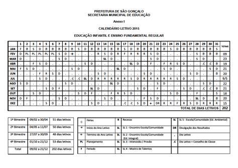 Calendario Rj 2015 Sepe S 227 O Gon 231 Alo Rede Municipal Calend 225 Letivo 2015