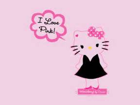 Hello kitty wallpaper pink and black love