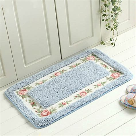Sytian Decorative Super Soft Floral Design Rural Style Pretty Bathroom Rugs