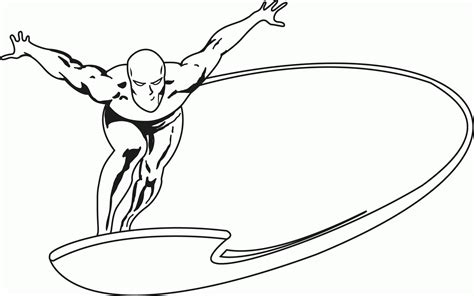 free silver surfer coloring page wecoloringpage