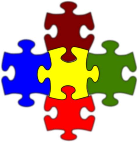 jigsaw white puzzle piece large clip art at clker com