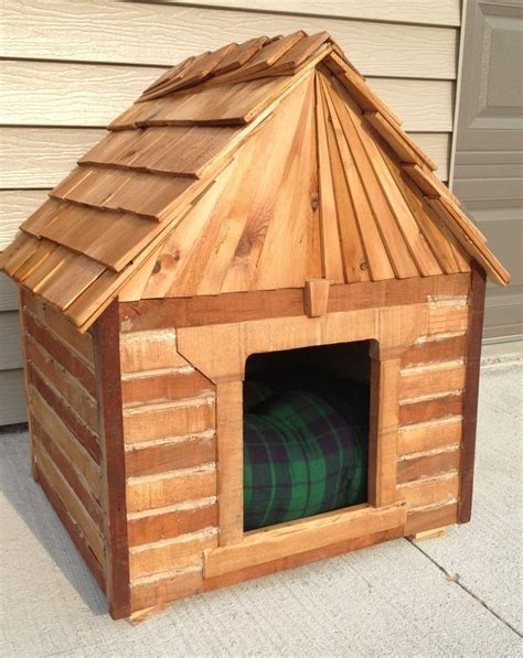 dog house project dog house cabin made from recycled oak pallet boards left over cedar quot starter quot shakes