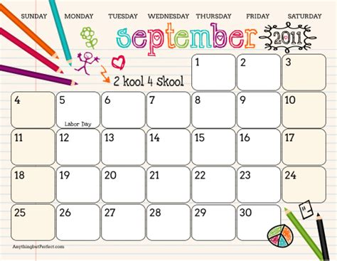 printable art calendar free printables for back to school happy home fairy