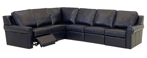 Electric Reclining Sectional wall hugging leather sectional electric reclining sofa
