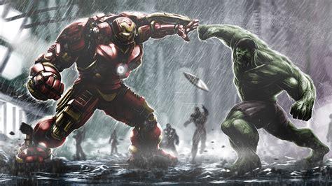 Hulkbuster Ironman Vs Hulk Wallpapers   HD Wallpapers