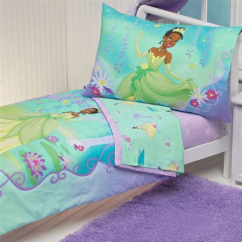 4pc disney princess frog toddler bed set tiana purple
