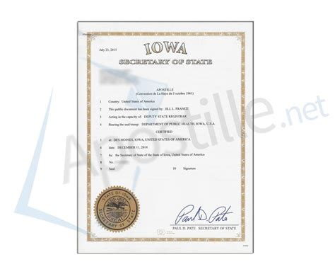 Des Moines Birth Records 17 Best Images About State Of Iowa Sle Apostille On
