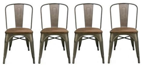 rustic industrial dining chairs industrial wood metal antique style rustic distress dining