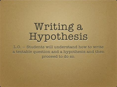 how to write a hypothesis in a research paper writing a hypothesis