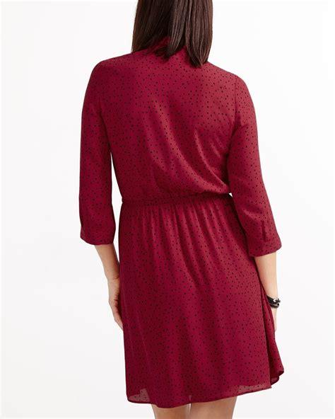 Sleeve Printed Dress 3 4 sleeve printed dress reitmans