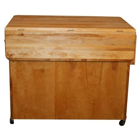 catskill craftsmen drop leaf 44 in kitchen island catskill craftsmen butcher block drop leaf workcenter plus