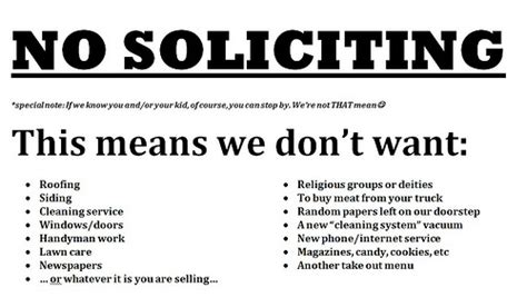 No Soliciting Welcome Mat ot how to stop solicitors from ringing my doorbell update