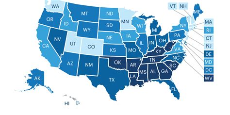healthiest states in america unhealthiest states america s health rankings business