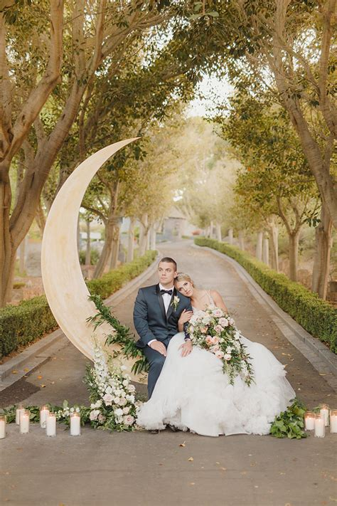 wedding photo majestic castle wedding inspiration with celestial accents