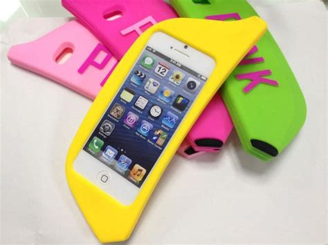 Softcase Iphone 5g 5s s secret pink 3d banana design silicone soft for iphone 5 5g 5s back covers