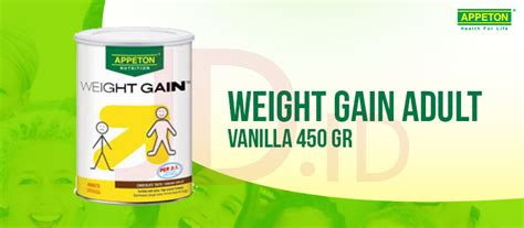 Appeton Weight Gain Vanilla jual appeton weight gain vanilla 450 gr jd id