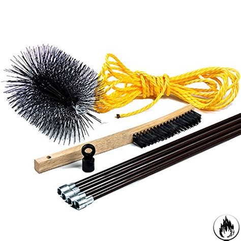 Chimney Tools - chimney cleaning brush kit 8 inch complete kit from