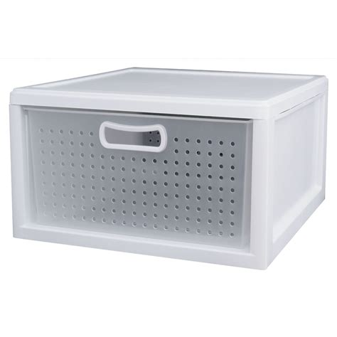 Small Sterilite Drawers by Closet Drawer White 3 Pack Sterilite 21108003 Best