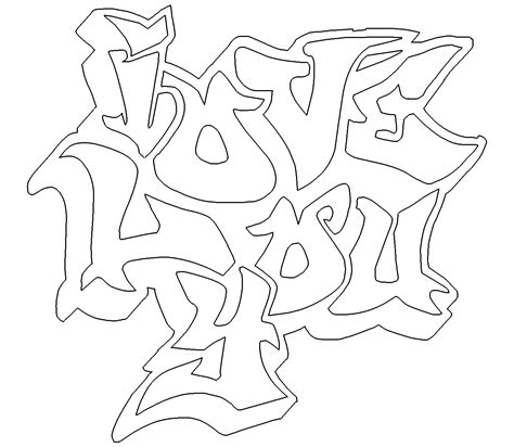 i love you coloring book pages i love you graffiti coloring pages coloring home