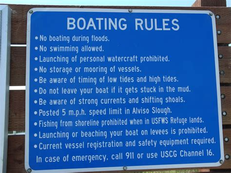 boating rules panoramio photo of boating rules at alviso california