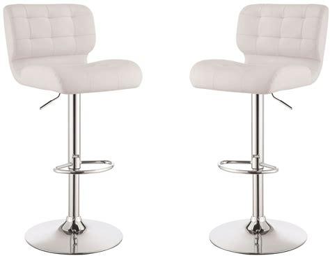 adjustable bar stools white white adjustable bar stool set of 2 from coaster 100546