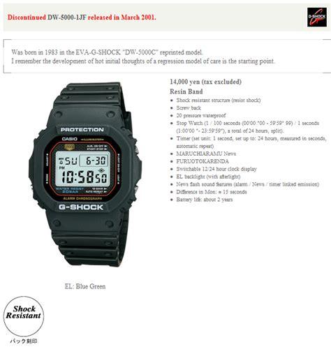 Casio G Shock Tali Gshock Dw 5000 Dw5000 Dw 5000 Rubber Hitam dw 5000 1jf g shock wiki casio resources