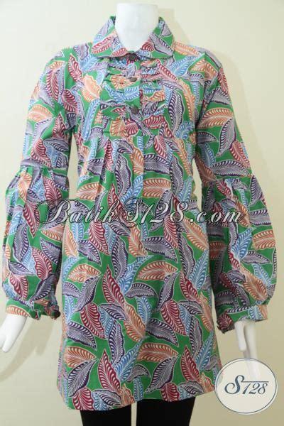 F20217004mot1 Xl Blus Batik Tulis Panjang Atasan Batik Kantor Murah blus batik wanita lengan panjang bls1443p toko