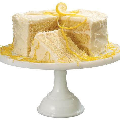 Lemon Cake by Layer Lemon Cake With Lemon Buttercream Icing
