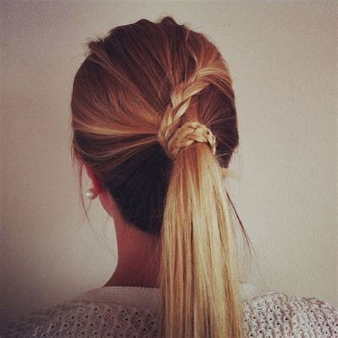 wrap around french side braid brilliant ponytail hairstyles to make you the most stylish